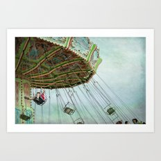 in the air Art Print
