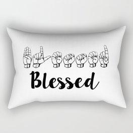 Blessed Sign Language Rectangular Pillow