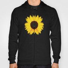 colored summer ~ sunflower black Hoody