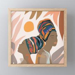 Women with the Turbans Framed Mini Art Print