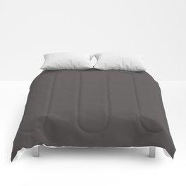 Solid Dark Gray Wolf Color Comforters
