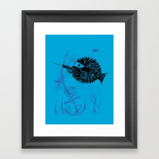 Blowgun Fish Framed Art Print