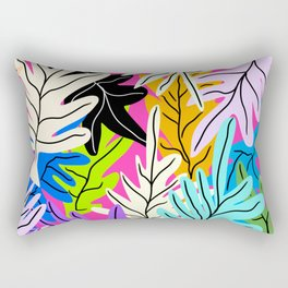 Leafs collage design Rectangular Pillow
