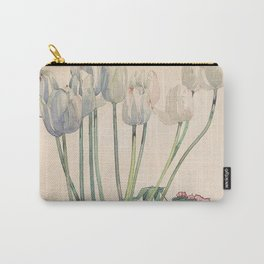 """Charles Rennie Mackintosh """"White tulips"""" Carry-All Pouch"""
