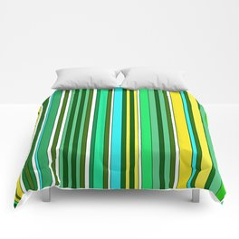 GREEN SPRING STRIPES Comforters