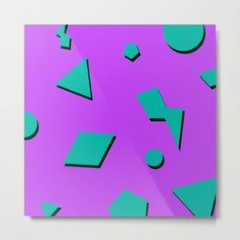 Pop Tart 90s Pattern Metal Print