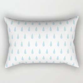 drops pattern blue Rectangular Pillow