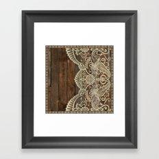 WOOD & LACE Framed Art Print