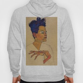 SELF PORTRAIT WITH HANDS ON CHEST - EGON SCHIELE Hoody