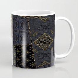 Fervent Alchemy (Faux Texture, Metallics on Black Tapestry) Coffee Mug