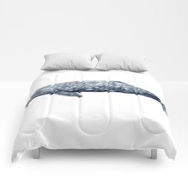 Grey whale Comforters