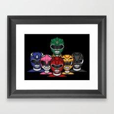 It's Morphin' Time! Framed Art Print
