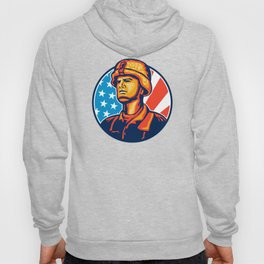 Fly Fisherman Reeling Trout Fish Retro Hoody