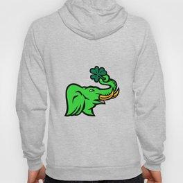 Green Elephant Shamrock Icon Hoody