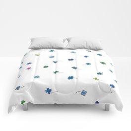 Blue Clovers Comforters