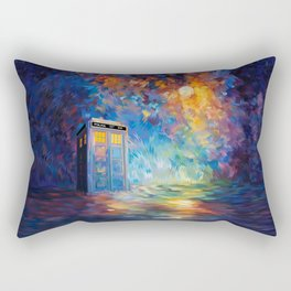 Tardis Doctor Who Rainbow Abstract Rectangular Pillow