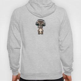 Cute Baby Platypus Deejay Wearing Headphones Hoody
