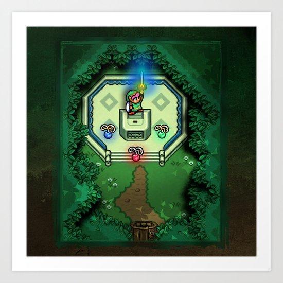 Zelda Link to the Past Master Sword Art Print