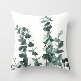 Eucalyptus Leaves Throw Pillow