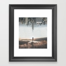Between Earth & City Framed Art Print