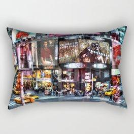 Times Square New York Rectangular Pillow