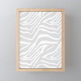 ZEBRA GRAY AND WHITE ANIMAL PRINT Framed Mini Art Print