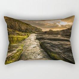 Trebarwith strand sunset Rectangular Pillow