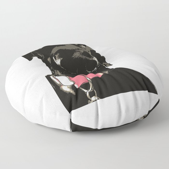 Black Great Dane Dog Floor Pillow