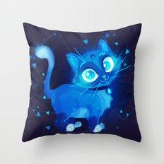 Sapphire Kitty Throw Pillow