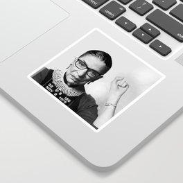 Ruth Bader Ginsburg Fonda Mug Shot Sticker
