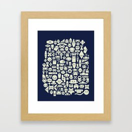 Shapes With Faces Framed Art Print