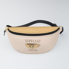 Depresso Coffee, Funny, Quote, Coffee Fanny Pack