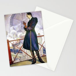 Portrait Of Adolfo Best Maugard - Diego Rivera Stationery Cards