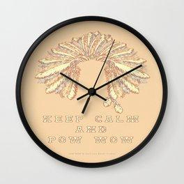 POW WOW - 043 Wall Clock