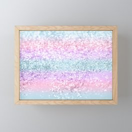 Unicorn Girls Glitter #11 #shiny #pastel #decor #art #society6 Framed Mini Art Print