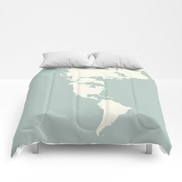 Dymaxion Map of the World Comforters