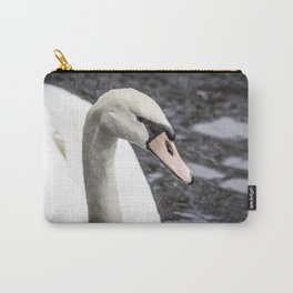 Closeup Profile of a Swan Swimming in a Pond in Amsterdam, Netherlands Carry-All Pouch