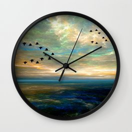 Sunset in the Refuge Wall Clock