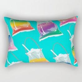 takeaway rainbows pattern, cyan Rectangular Pillow