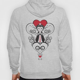 Queen of Hearts    black, white and red Hoody