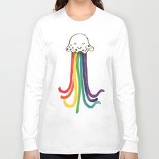 Rainbow Jellyfish Long Sleeve T-shirt