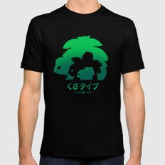 Mega Grass Black LARGE Mens Fitted Tee