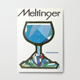 Vintage Poster- Meltinger - Mineralreicher Metal Print