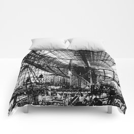 Airship under construction Comforters