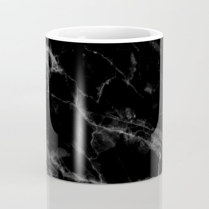 Black Marble Coffee Mug