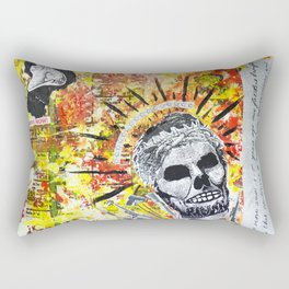 Truth the Fallen King Mixed-Media Collage Rectangular Pillow