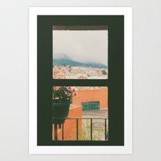 Through my window Art Print