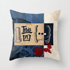 one and three quarters of things Throw Pillow
