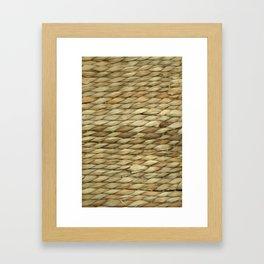 Weaved texture Framed Art Print