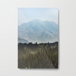 Epic Forest Mountain Adventure - Mount Rainier National Park Metal Print